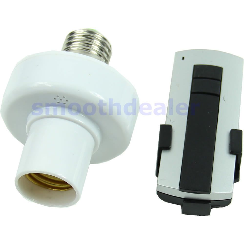 E27 Screw Wireless Remote Control Light Lamp Bulb Holder Cap Socket Switch New Remote Control Light Lamp Bulb Lamp Light
