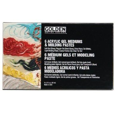 Amazon.com: Golden Introductory Gel Mediums and Modeling Pastes Set (0000945-0): Arts, Crafts & Sewing