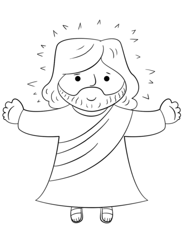 Cartoon Jesus Coloring Page From Jesus Resurrection Category Select From 24898 Printable Crafts Of Cartoons Jesus Coloring Pages Jesus Cartoon Coloring Pages