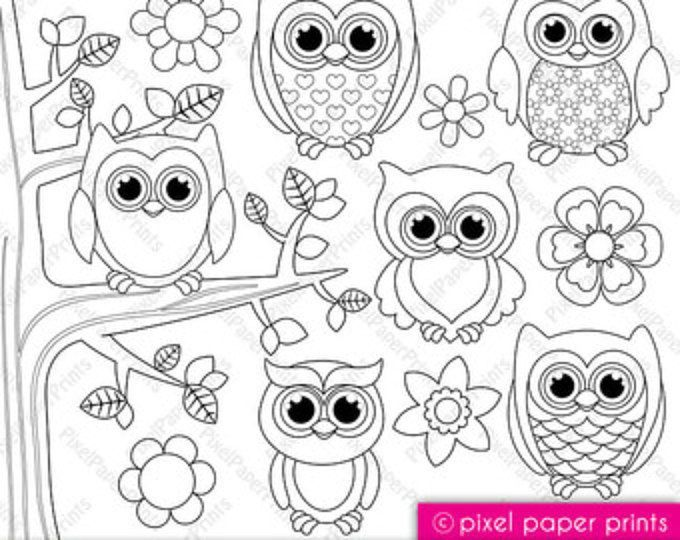 Woodland Animals Digital Stamps Clipart 2020 Painting
