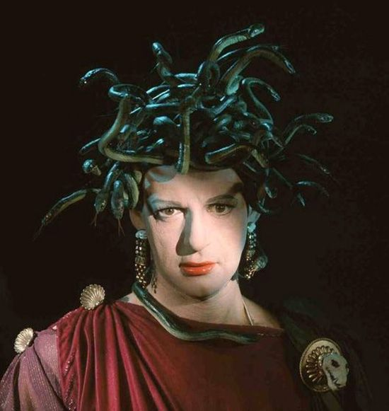 Tony Randall femulates Medusa in the 1964 film 7 Faces of Dr. Lao ...