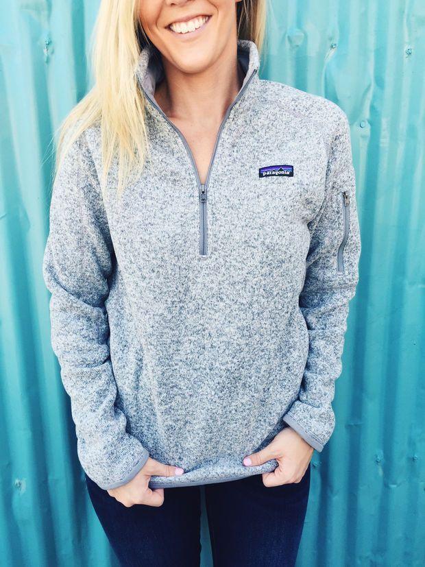 Patagonia Women's Better Sweater 1/4 Zip Fleece- Birch White