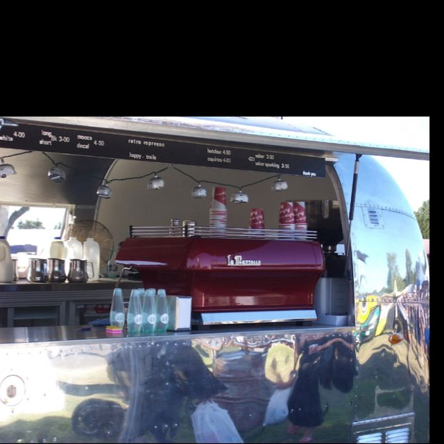 Airstream with LaMarzocco machine