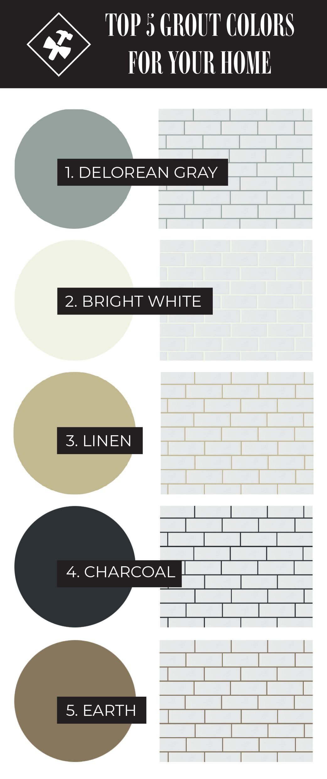 Grout Colors How To Choose In 2020 White Subway Tile Bathroom