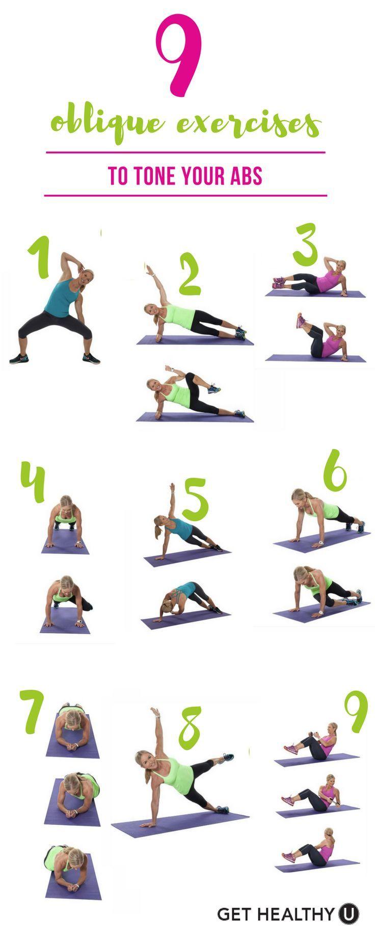 9 Oblique Exercises To Tone Your Abs Oblique Workout Ab Core Workout Abs Workout