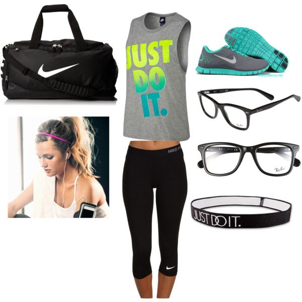 da faq by flinch552 on Polyvore featuring polyvore fashion style NIKE Ray-Ban