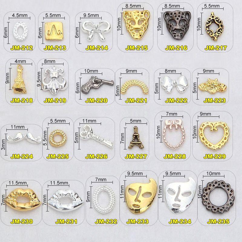 1000PCS/Lot 2016 new nail art metal stud japanese fashion nail ...