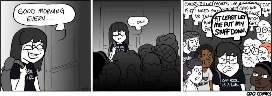 Q2Q Comics #177: All At Once | Stage Managing | Comics ...