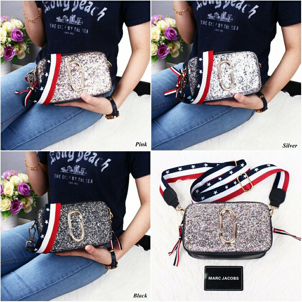 Marc Jacobs Snapshot Glitter Crossbody Bags Mt3776 4799 Quality