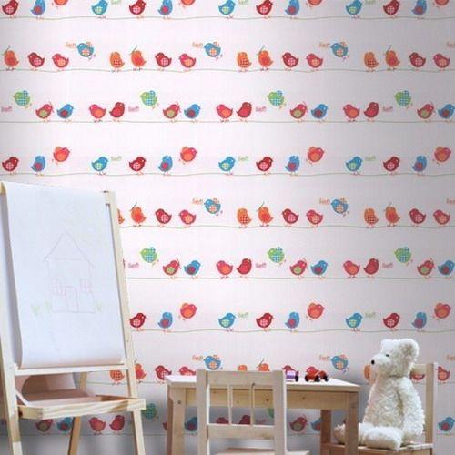 Kinder Zimmer Gestalten Tapeten Vögel Motive