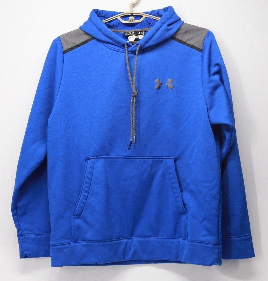 a4061b1fc Under Armour Men's Loose Fit Blue Pull Over Hoodie Size XL #Underarmour # Hoodie