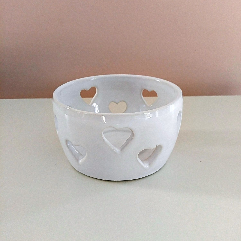 Ceramic Tea Light White Candle Holder Tea Light Candle
