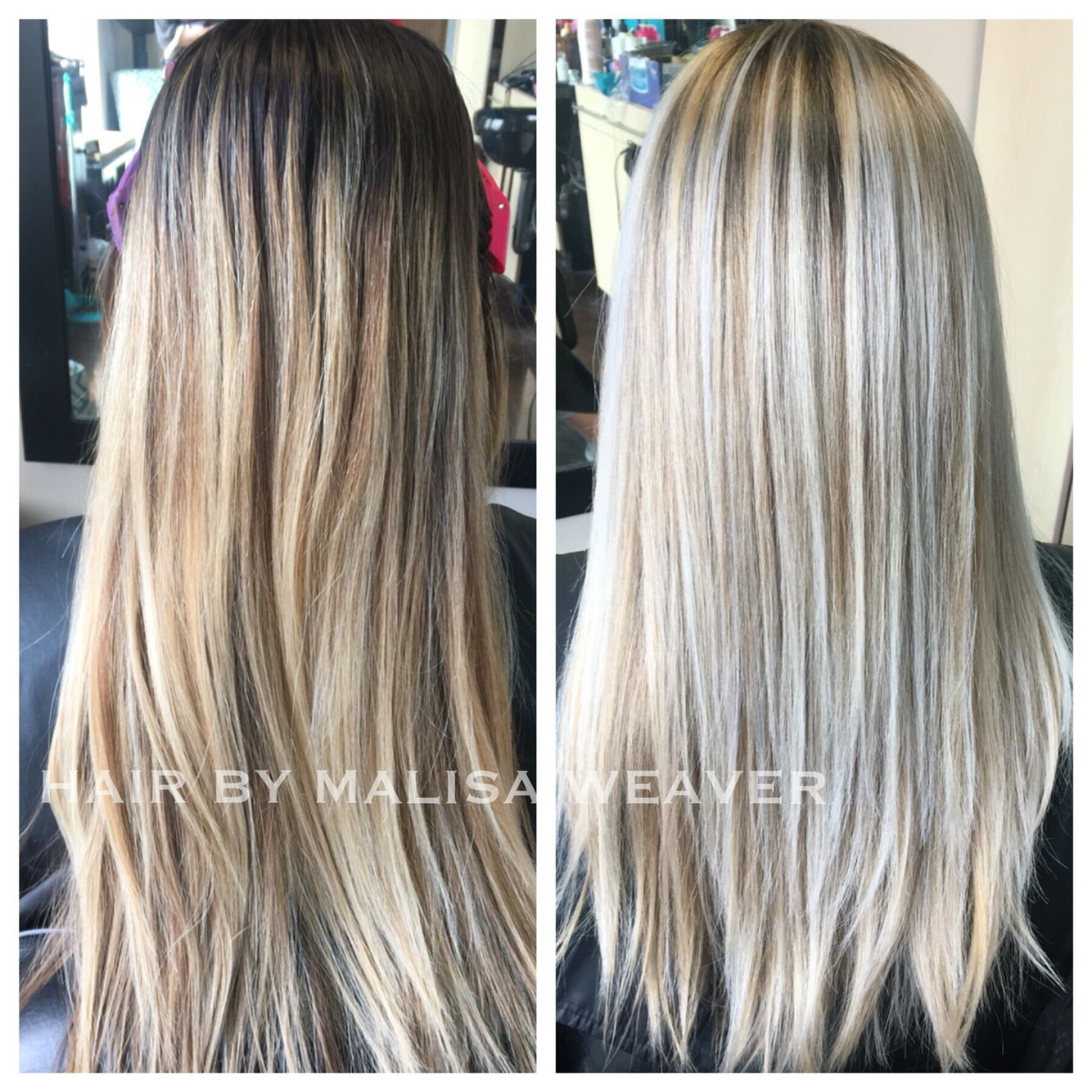 Before After Grown Out Balayage To