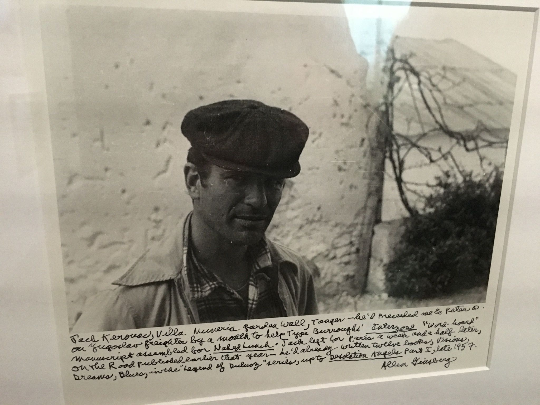 Jack Kerouac à Tanger en 1957 - Photo d'Allen Ginsberg