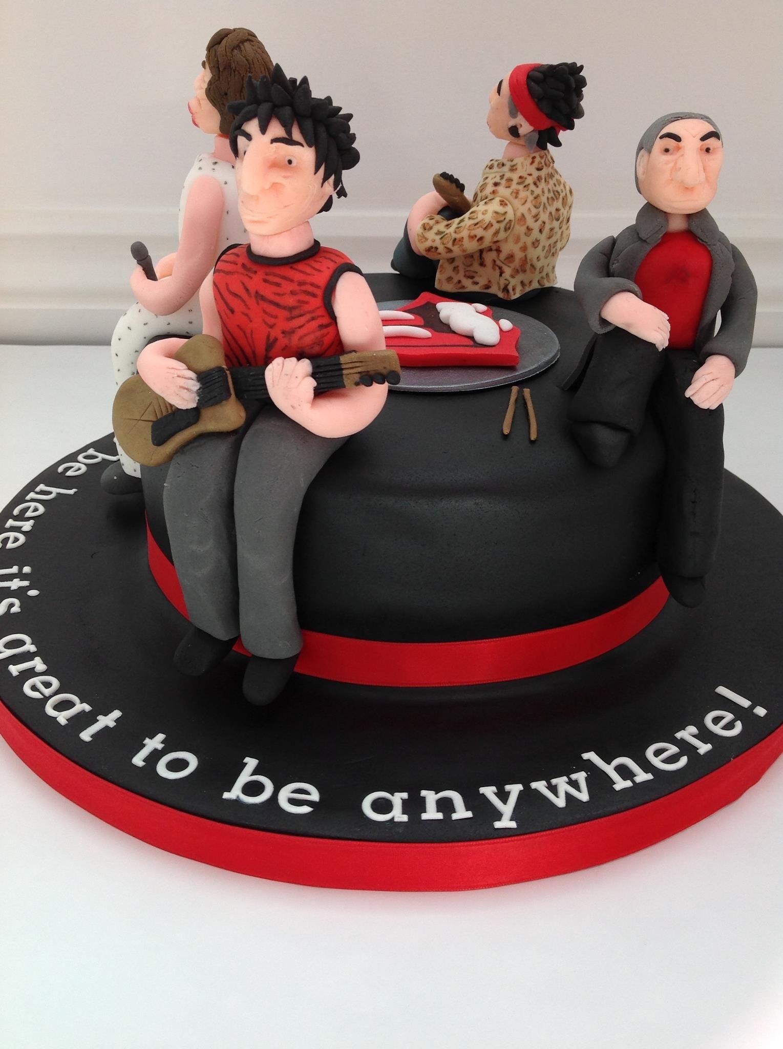 A Rolling Stones cake by Fancy Fondant