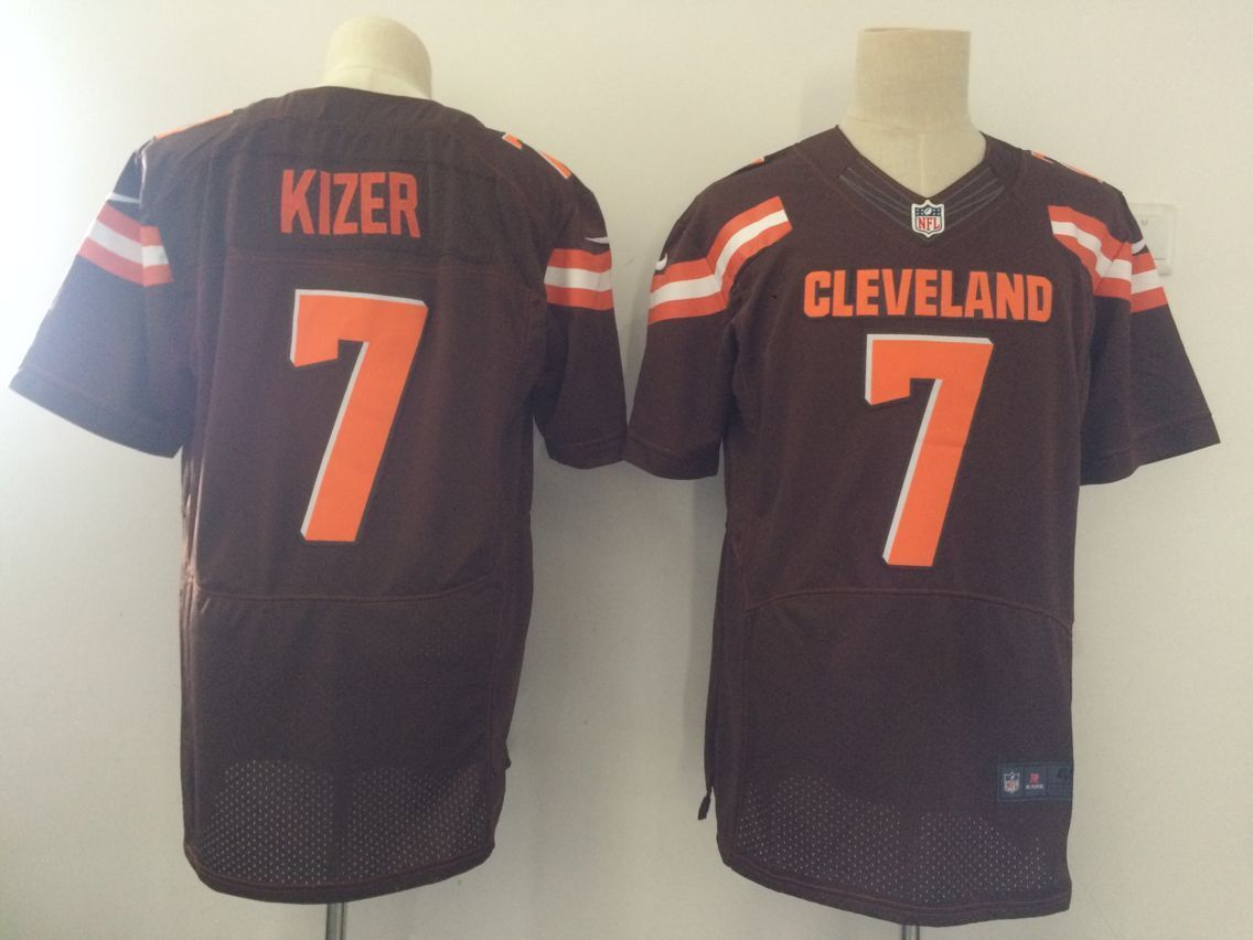 Men Cleveland Browns 7 Kizer Brown Elite Nike NFL Jerseys ... ab646ead6