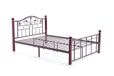Complete Bronze Metal Bed With Headboard Footboard Slats And Rails