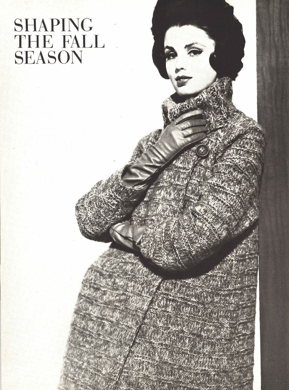 Lady grey 1960s knitting turtleneck sweater coat pattern lady grey 1960s knitting turtleneck sweater coat pattern vintage vogue knit 1961 womans bankloansurffo Choice Image