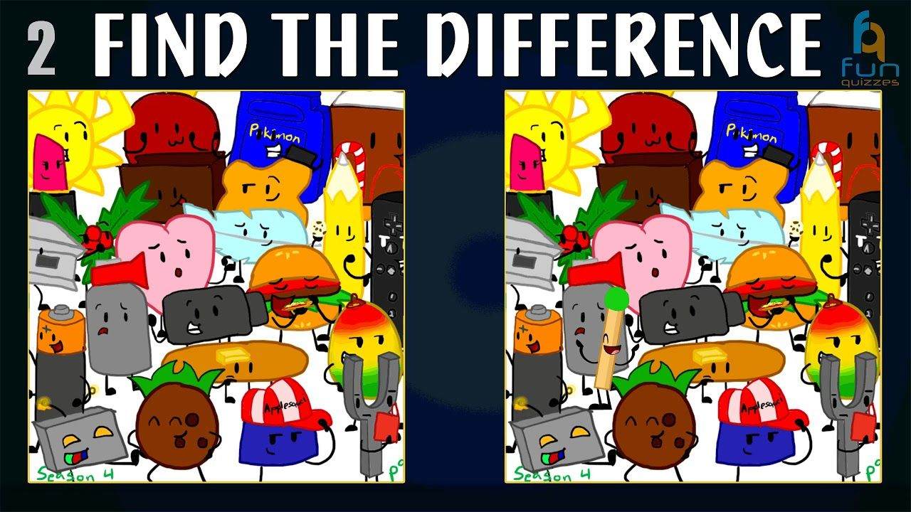Find The Difference BFDI Vol 4 | Battle For Dream Island | Spot The