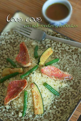 Cous cous con salmonetes y verduritas   Recetas Fáciles de Cocina: A mi lo que me gusta es cocinar