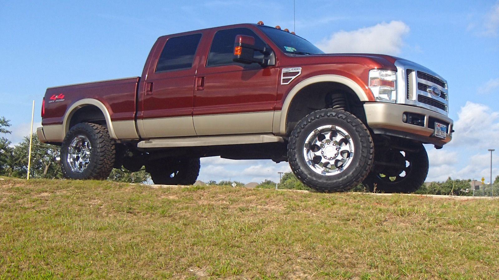 Tricked out 2008 ford f 250 king ranch crew cab