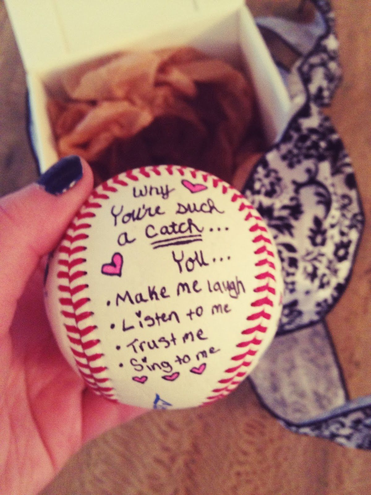 Christmas Gift Ideas For New Boyfriend.You Re Such A Catch Baseball Diy For Him Gift Ideas