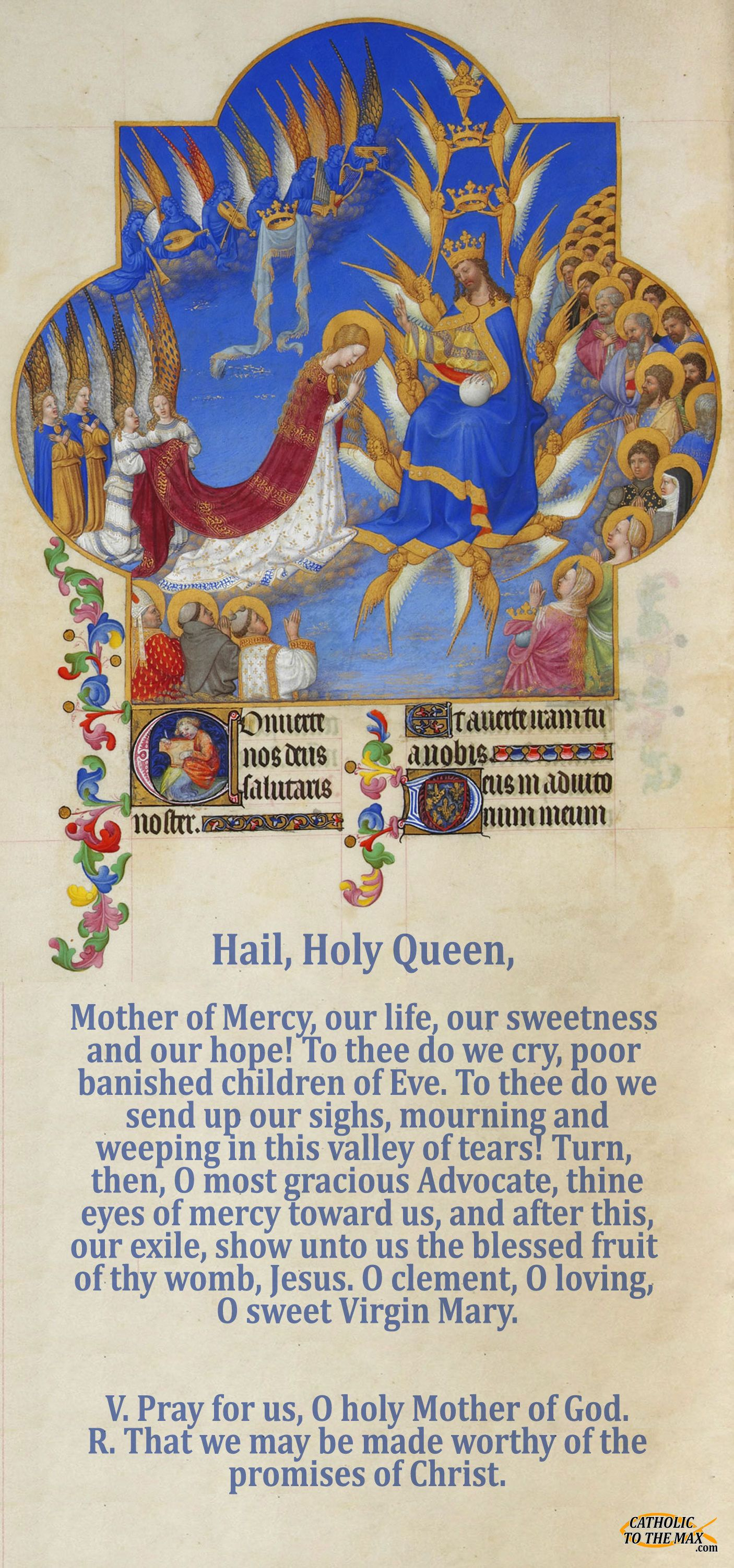 Hail Holy Queen Coronation Of Mary Poster