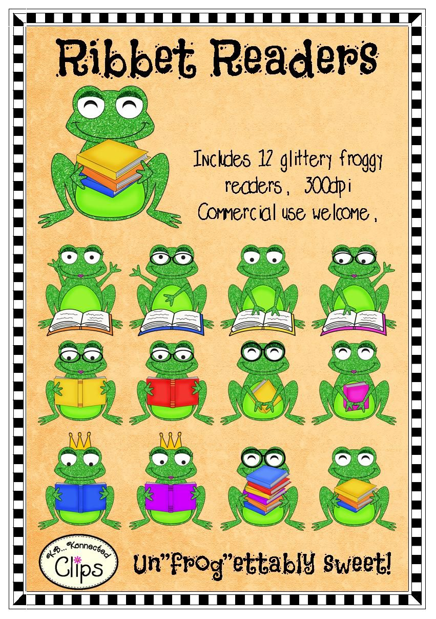 clipart ribbet readers reading froggy style tpt elementary k 6