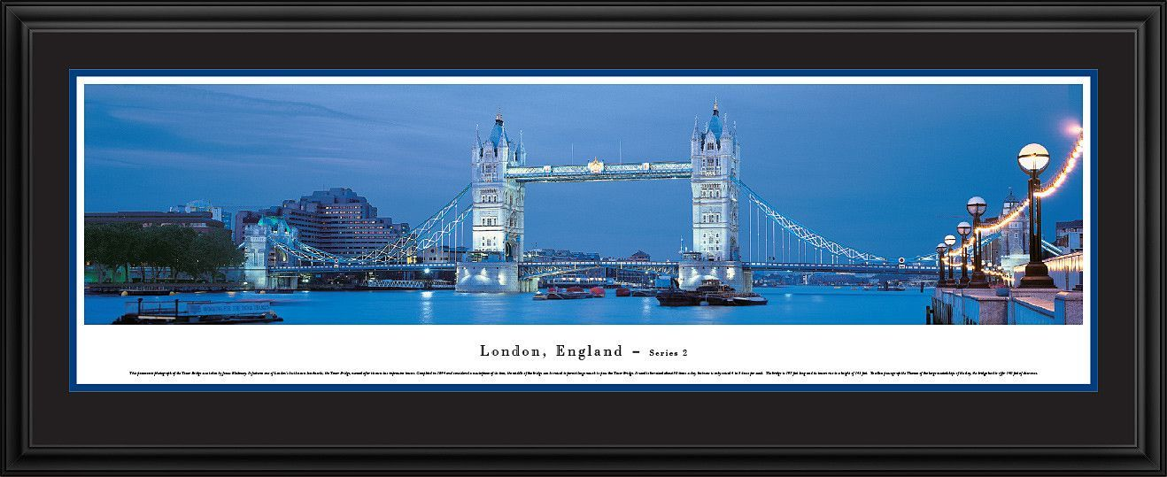 London Skyline Panoramic Picture Framed, England-Series 2