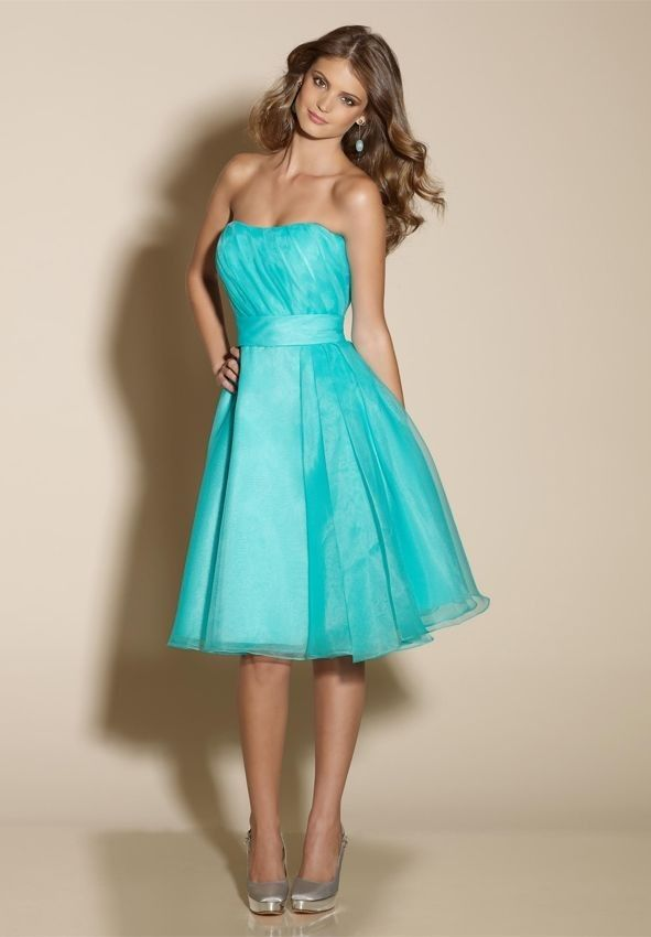 d3362f7bc31b turquoise flower girl dresses under 50 | Home > Bridesmaid > Organza  Strapless A-Line Short Bridesmaid Dress