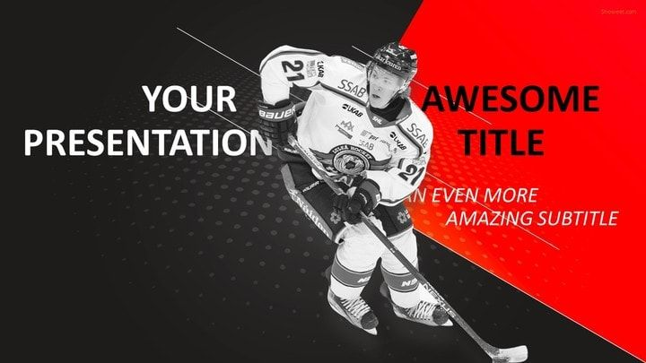 Sports  Hockey Powerpoint Template  Sports Powerpoint Templates