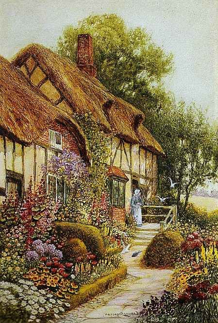 Painting Of Cozy Cottage