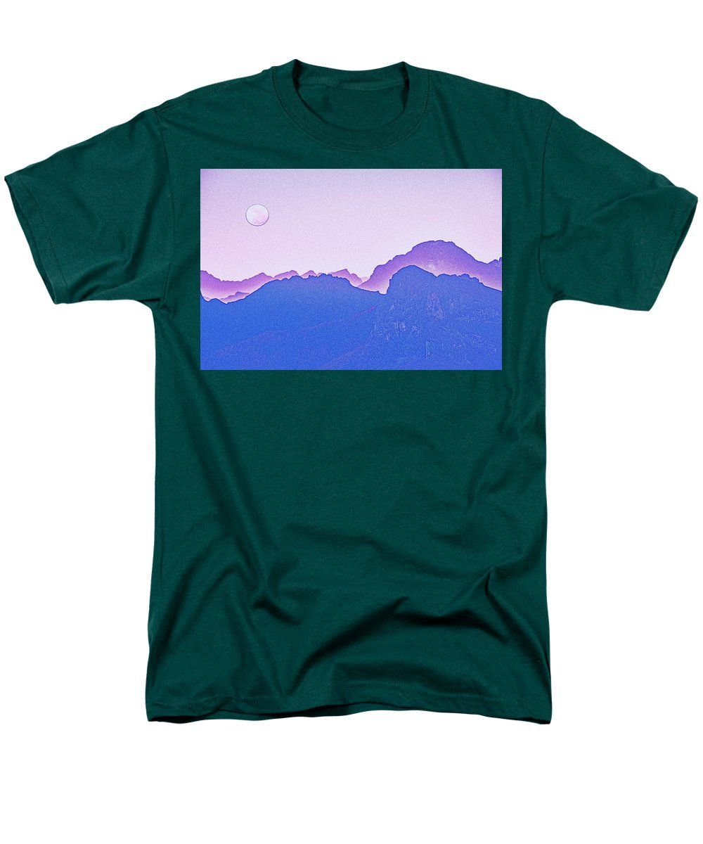 Purple Sunset Over Sierras By Adam Asar - Men's T-Shirt (Regular Fit)