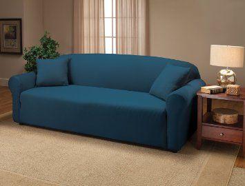 Amazon Com Stretch Jersey Sofa Slipcover Stretch Jersey Sofa Slipcover Blue Slipcovered Sofa Furniture Slipcovers Loveseat Slipcovers