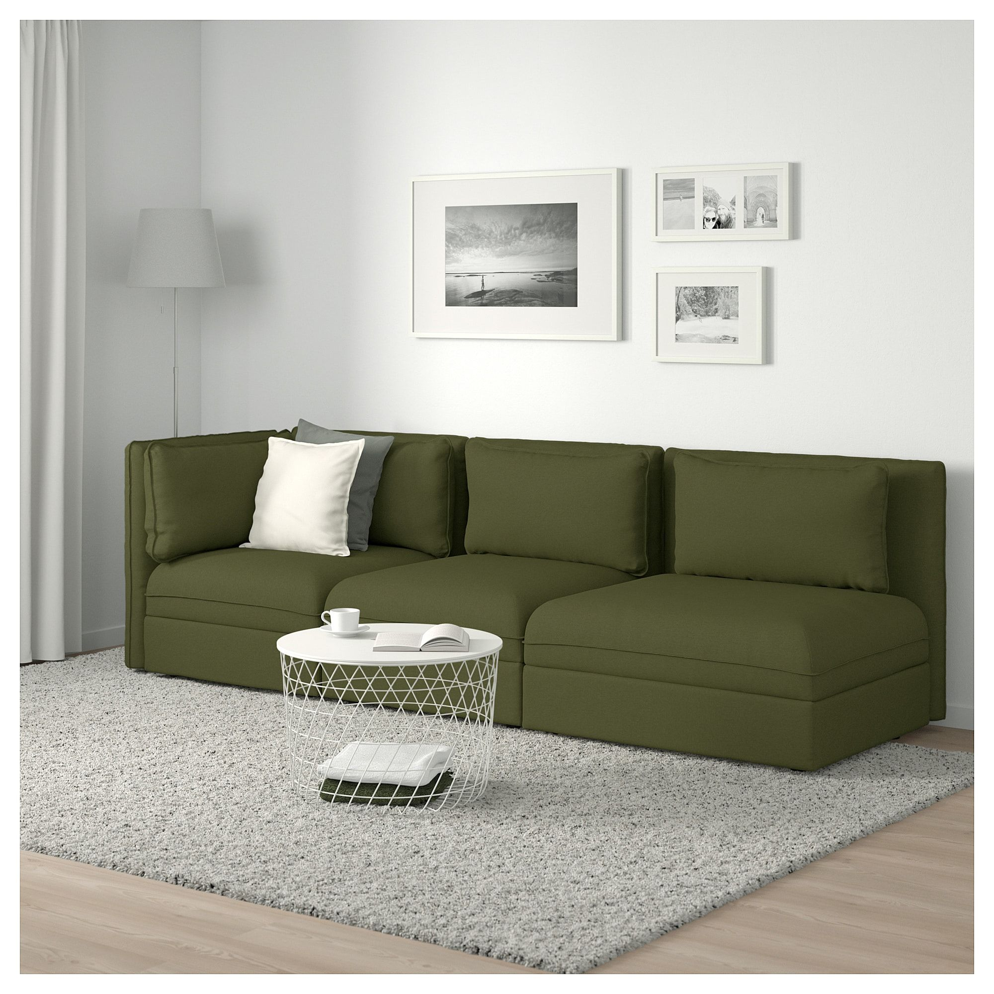 Tremendous Ikea Vallentuna Sectional 3 Seat With Open End And Lamtechconsult Wood Chair Design Ideas Lamtechconsultcom