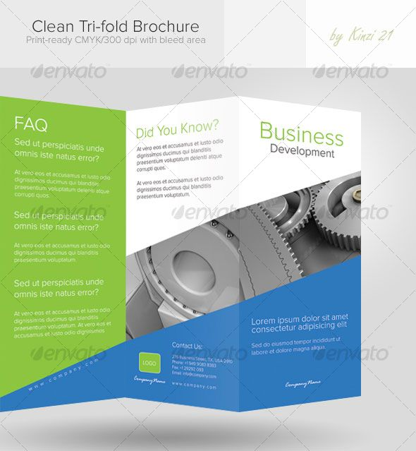 Clean TriFold Brochure  Church Welcome Kit    Tri