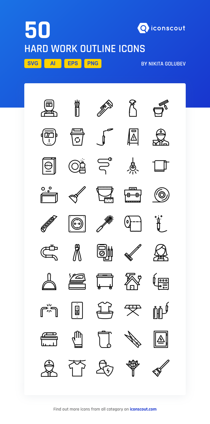 Download Hard Work Outline Icon Pack Available In Svg Png Eps Ai Icon Fonts Icon Pack Work Hard Outline