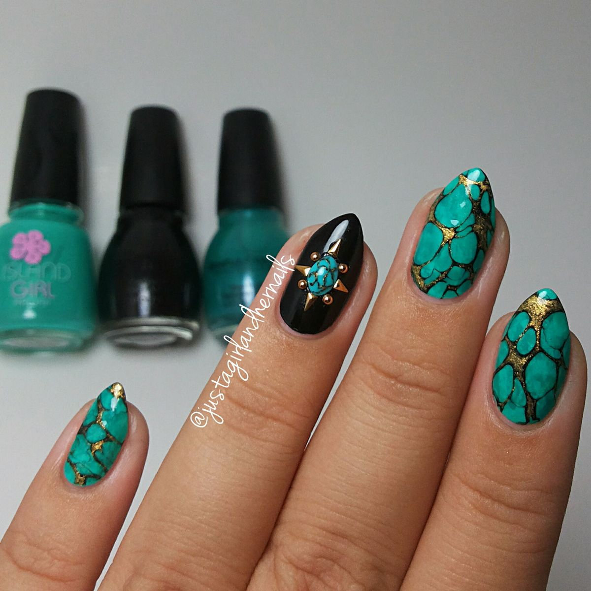 Nail Art Tutorial: Electric Turquoise | Nails in 2018 ...