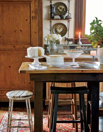 mesa cocina rustica y bancos diversos | Diseños que me gustan ...