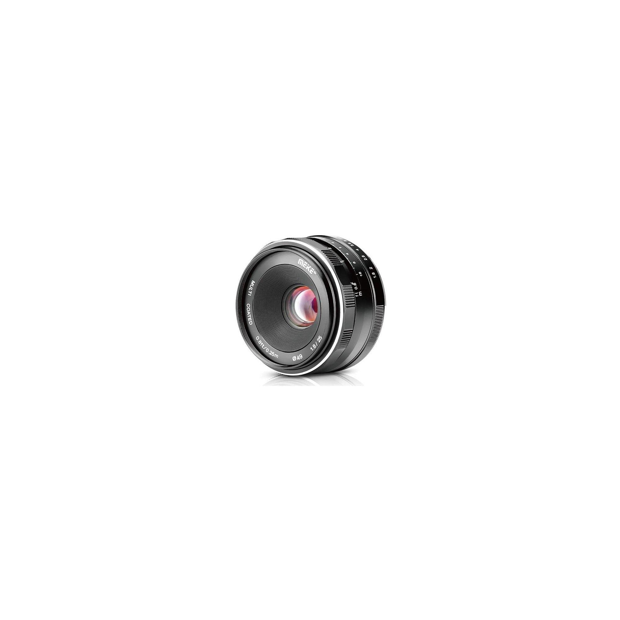 Meike 25mm f/1.8 Lens for Fujifilm X, Black