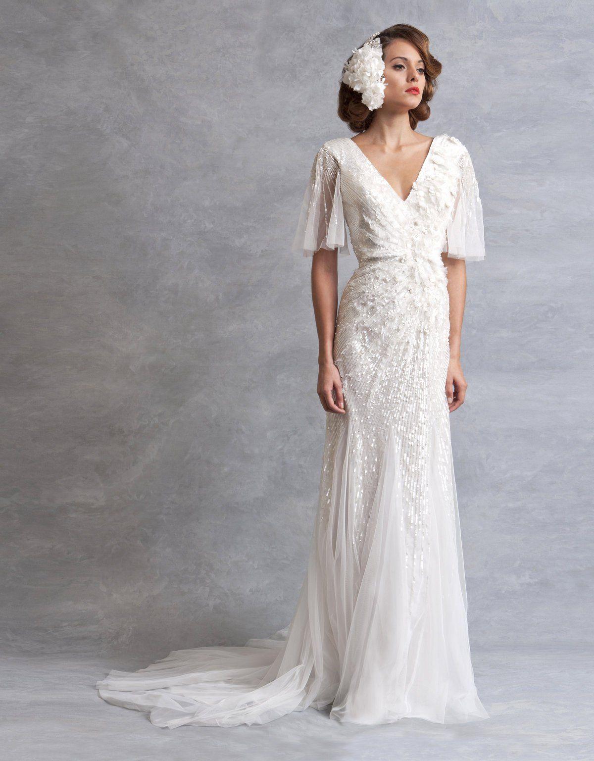Eliza Dress Vintage Inspired Wedding Dresses Wedding Dress Inspiration V Neck Wedding Dress