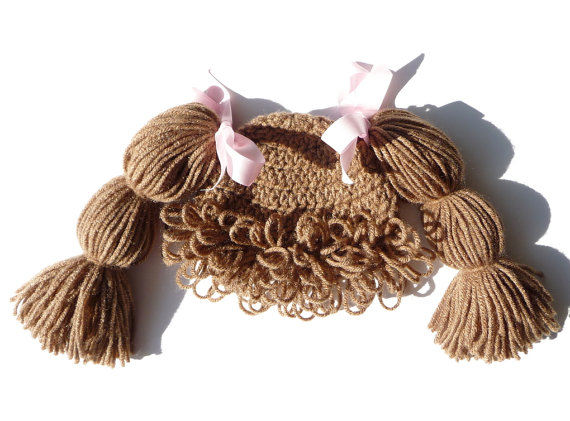 Cabbage Patch Hat CROCHET PATTERN Cabbage Patch Wig Cabbage Patch ...