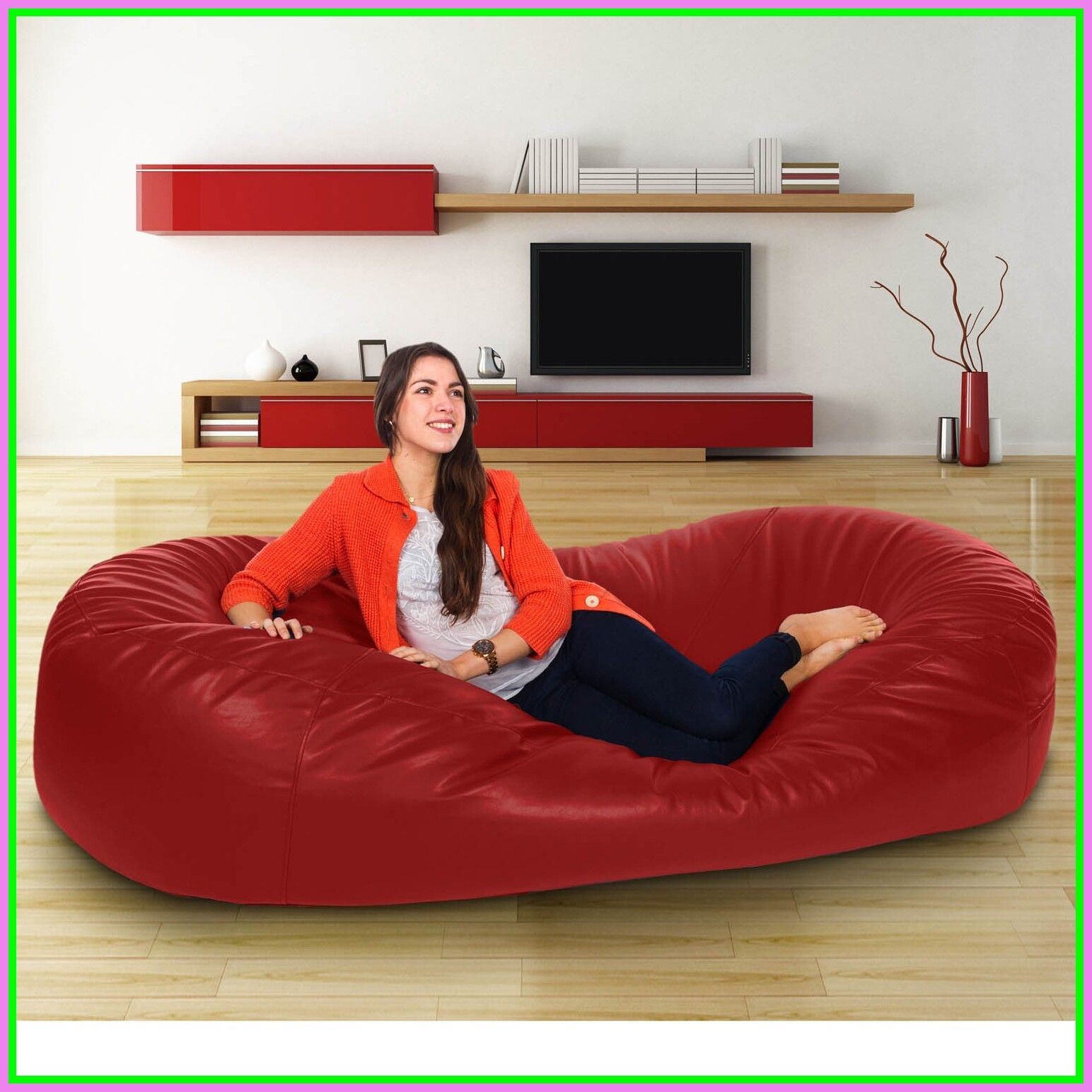 100 Reference Of Chair Bean Bag Red In 2020 Bean Bag Sofa Bed Leather Bean Bag Sofa Real Leather Sofas