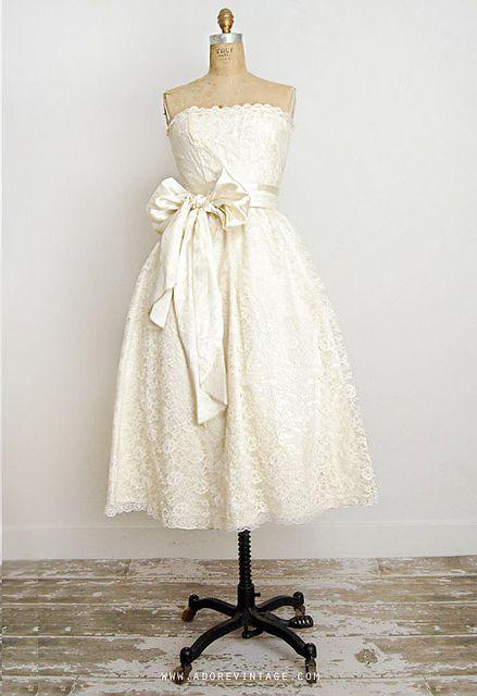 I don't think I want to go short…but if I do this is it. vintageweddingdress-3 by Adore_Vintage, via Flickr