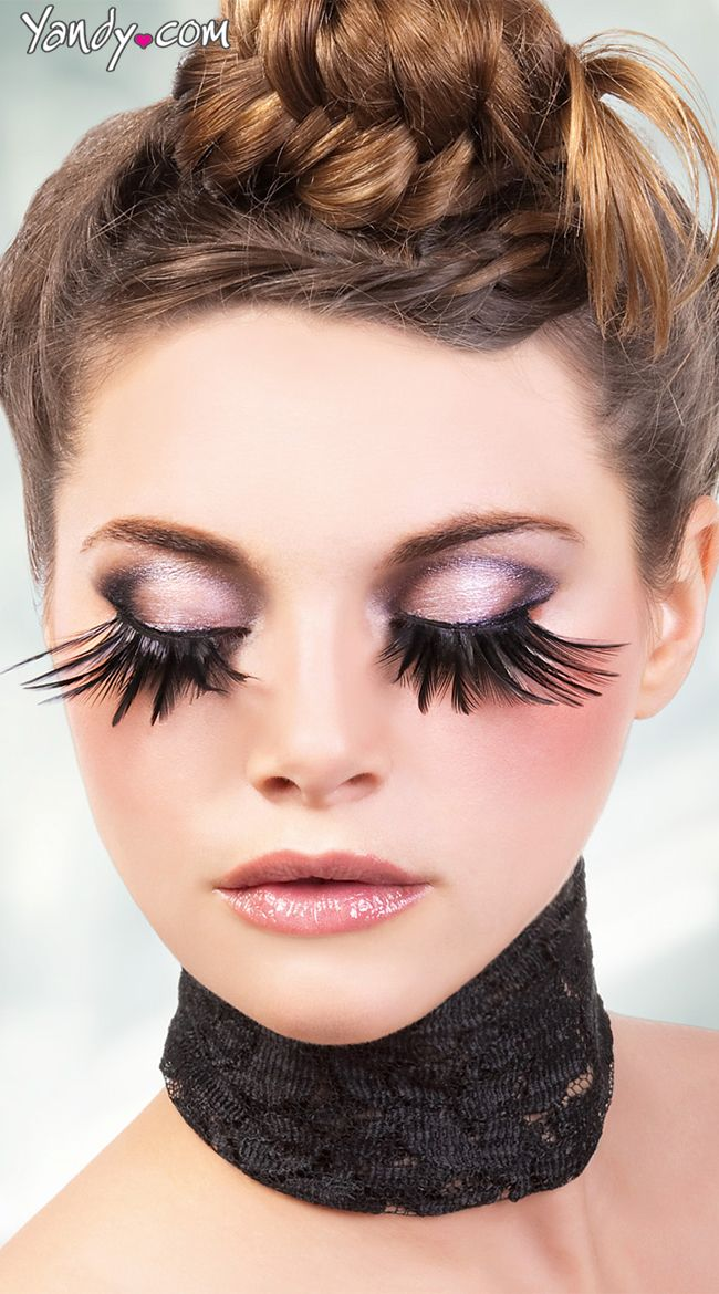 Exotic Black Feather Eyelashes Curated By Luscious Lashes Inc