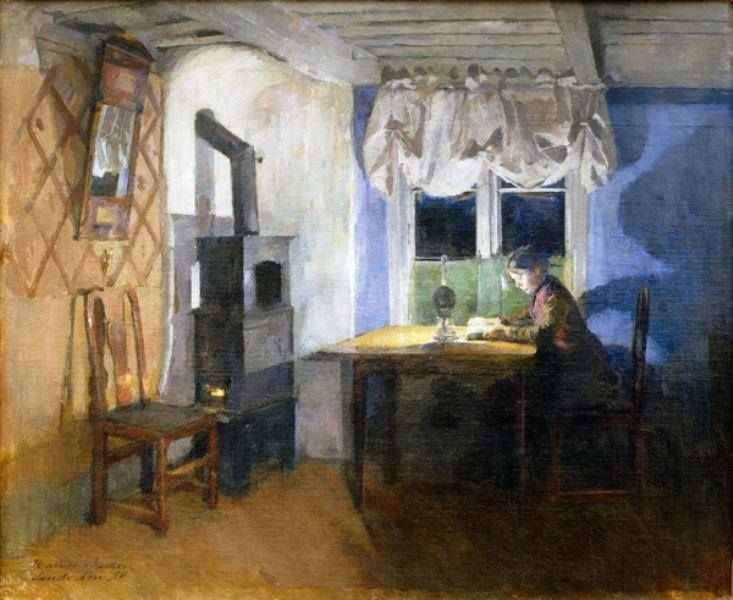 Harriet Backer, By Lamplight, 1890