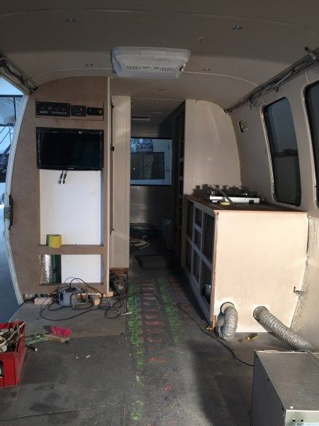 Gmc Motorhome Makeover Kitchen And Home Bar Tv Cabinet In