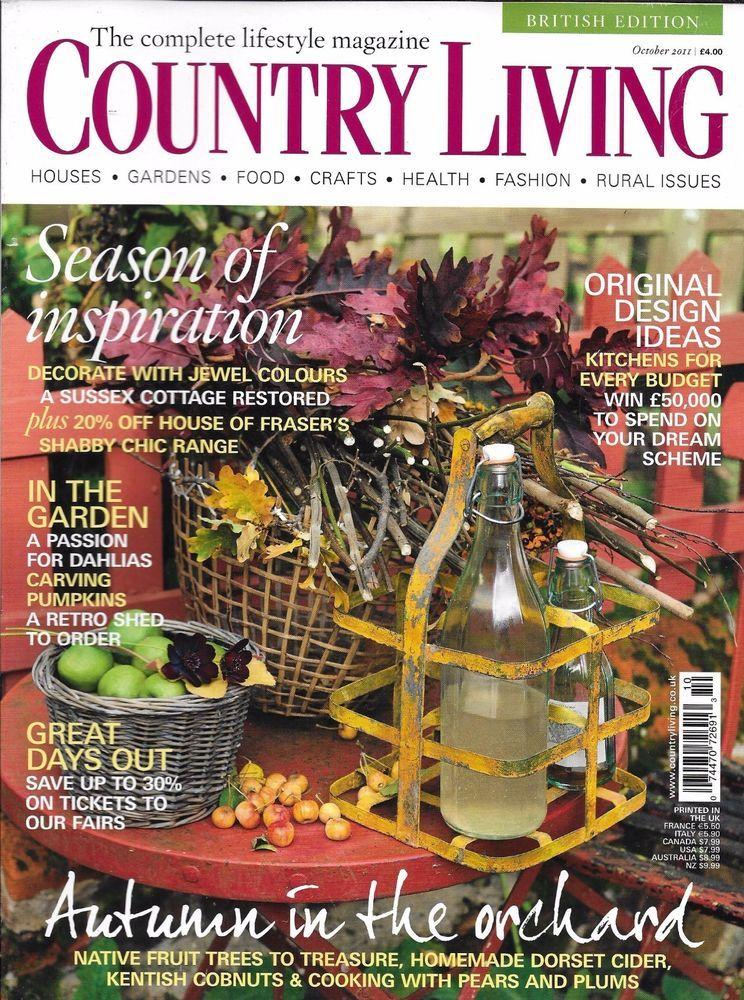 Country Living Magazine Christmas Autumn Original Design Ideas Dahlias Shed Country Living Uk Country Living Magazine Country Living