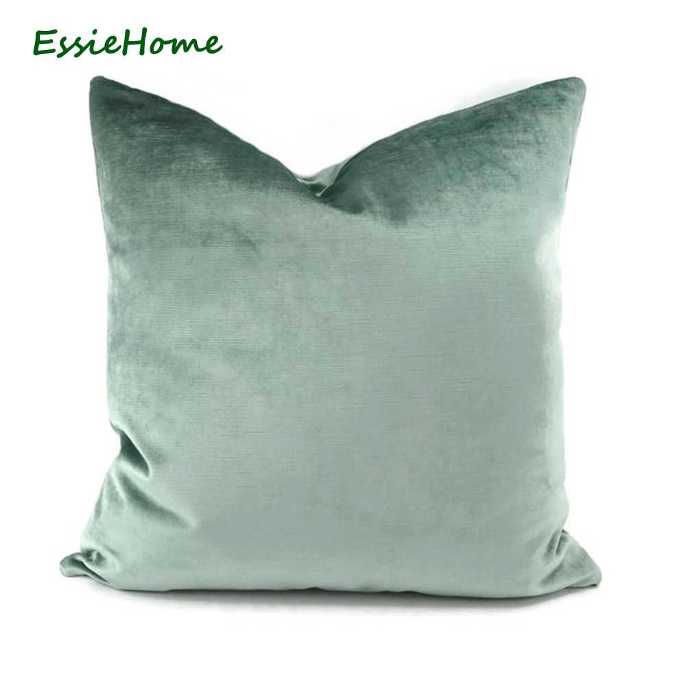 Essie Home Luxury Light Green Aqua Green Egg Green Faux Cotton Velvet Cushion Cover Pillow Case Lumbar Pillow Case Cushion Cover Pillow Case Cushion Covervelvet In 2020 Seafoam Green Pillows Green Accent Pillow