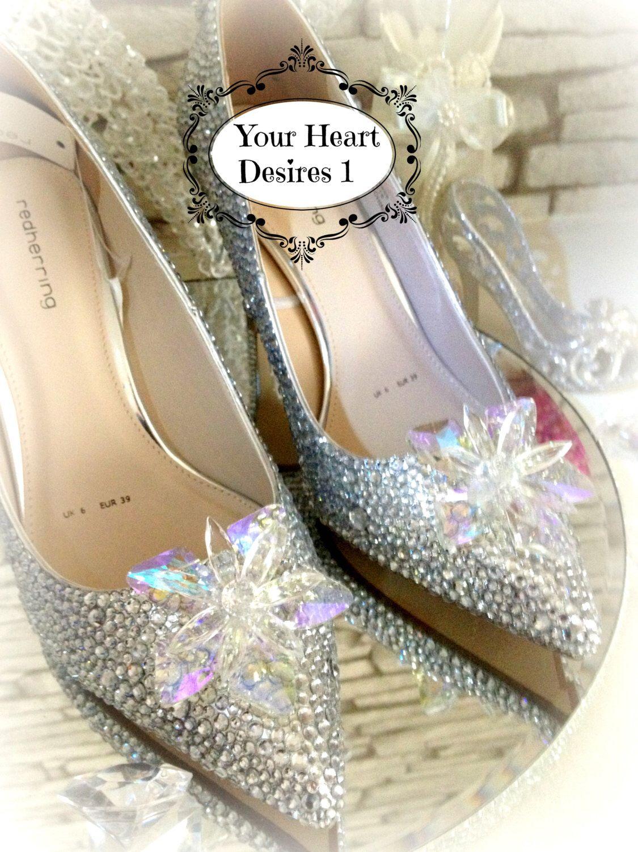 Swarovski Look Shoes Cinderella Wedding Heels Bridal Wedding Etsy Prom Heels Wedding Heels Cinderella Wedding
